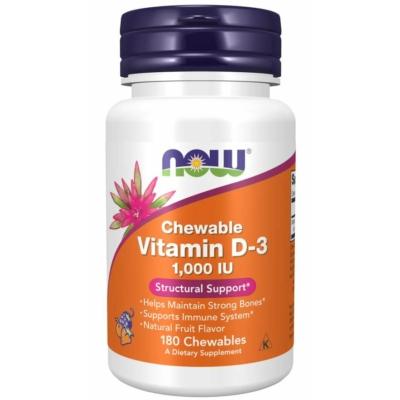 Now D3 Vitamin D-3 1000 IU Chewables (rágó tabletta)