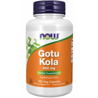 Now Gotu Kola 450 mg 100 Veg Capsules