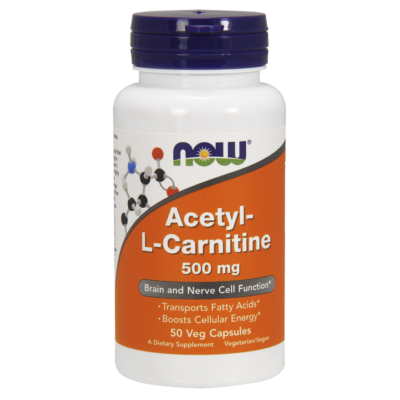 NOW Acetyl-L Carnitine 500mg 50Caps
