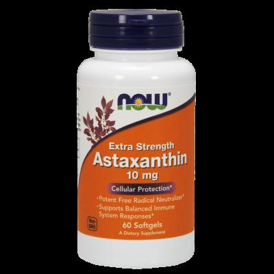 Now Astaxanthin 10mg 60 sgels