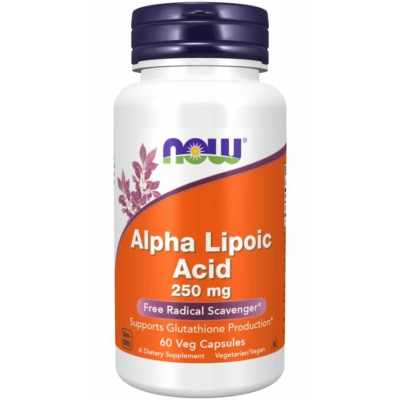 Now Alpha Lipoic Acid 250 mg 60 Veg Capsules