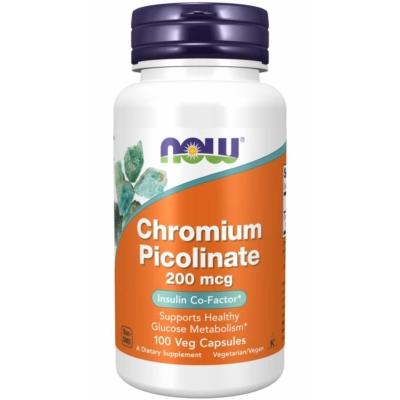 Now Chromium Picolinate 200 mcg / Króm pikólinát 100 Veg Capsules