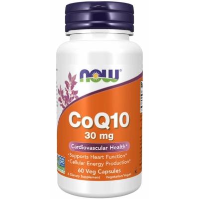 Now CoQ10 30 mg 60db Veg Kapszula