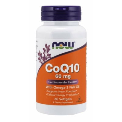 Now CoQ10 60 mg with Omega-3 Fish Oil Softgels