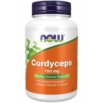 Now Cordyceps 750 mg 90 Veg Kapszula