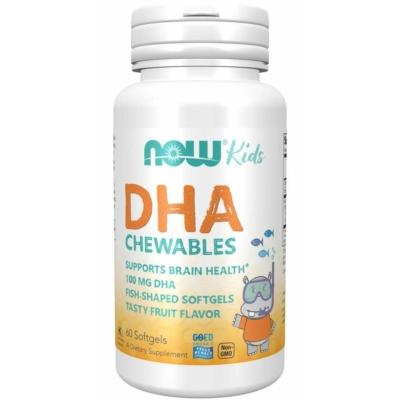 NOW DHA Kid's Chewable 100mg 60sgel