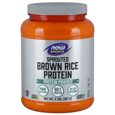Now Sprouted Brown Rice Protein (Barna Rizs Protein por) 907gr