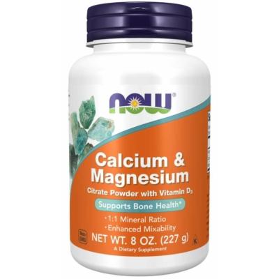 NOW Calcium-Magnesium por 227gr.