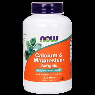 NOW Calcium-Magnesium 1000/500mg 120 softgel