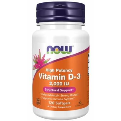 NOW D3 Vitamin D-3 2,000 IU 120 Sgels